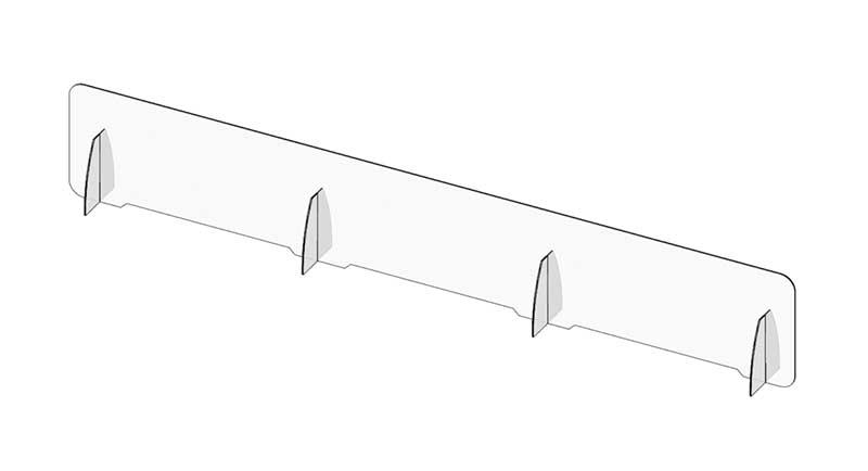 Barriera in plexiglass per tavolo sala meetings