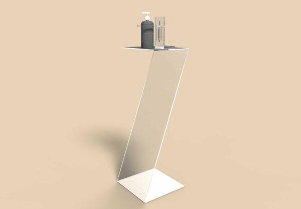 Dispenser in policarbonato a sedia per igienizzante mani