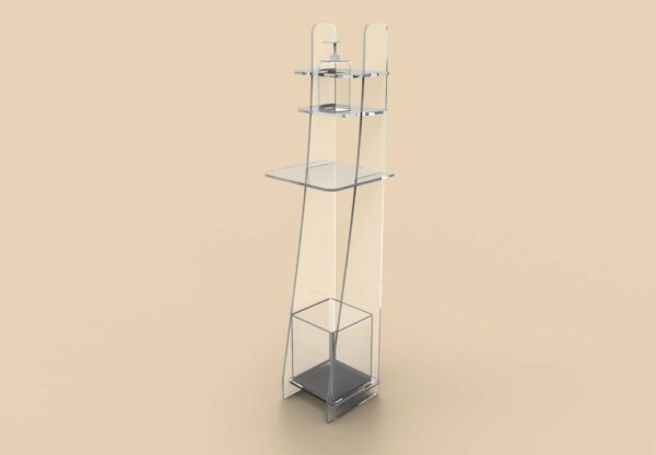 Dispenser igienizzante mani in policarbonato o plexiglass