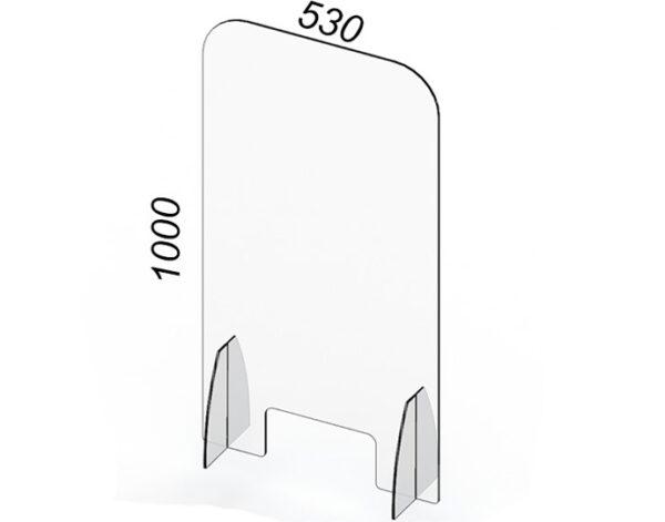 Divisore verticale il plexiglass contro covid19 con apertura