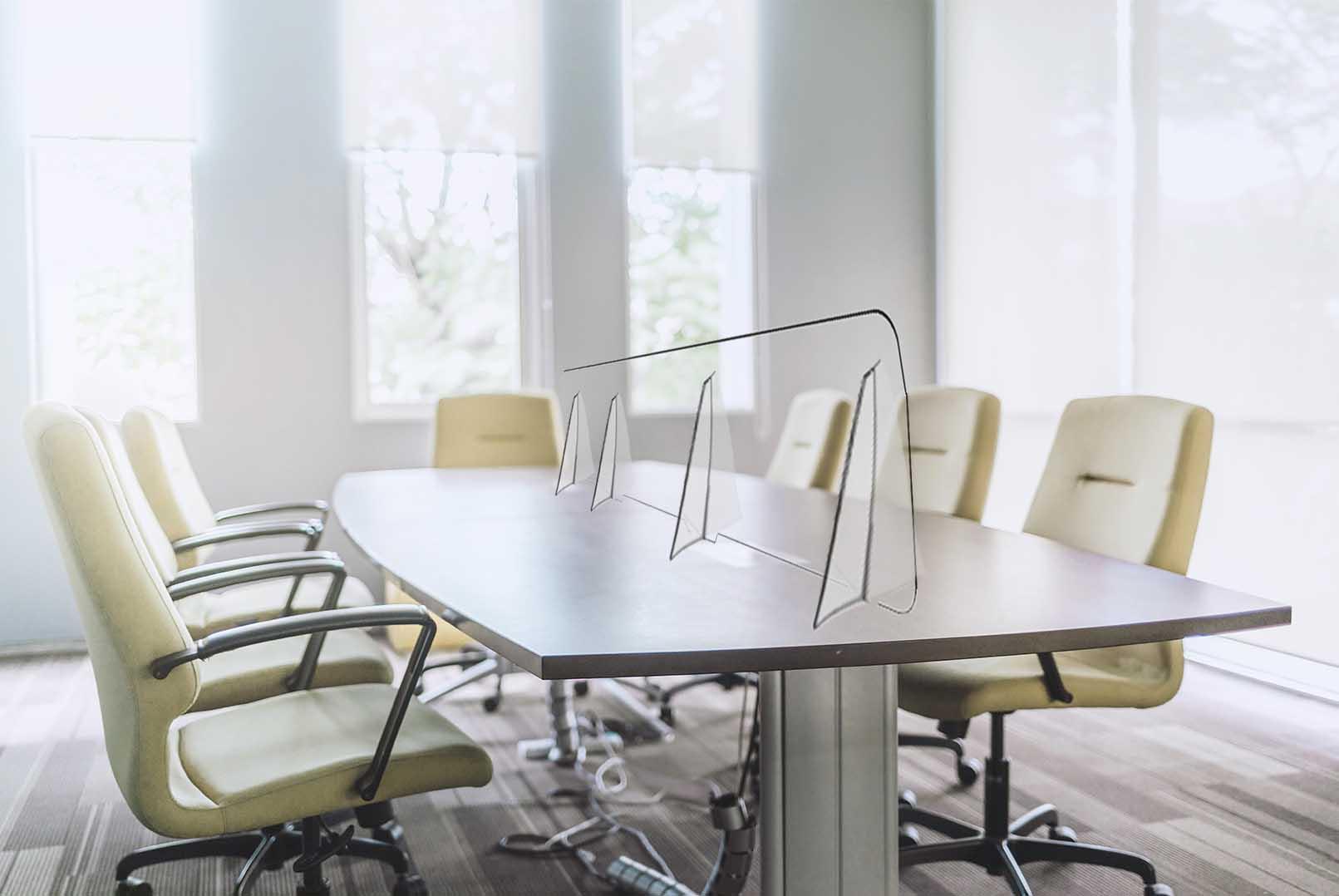 Separatore in Plexiglass per uffici e meeting room